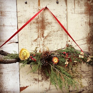 Montana holiday wreaths, dried flowers, Missoula, MT Floral Design, Missoula Florist, Holiday Swag