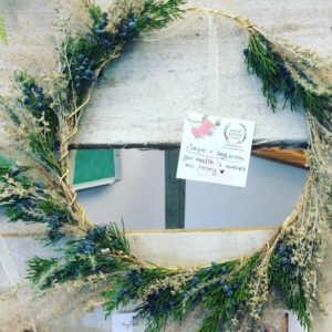 winter holiday wreath made in Missoula, Montana