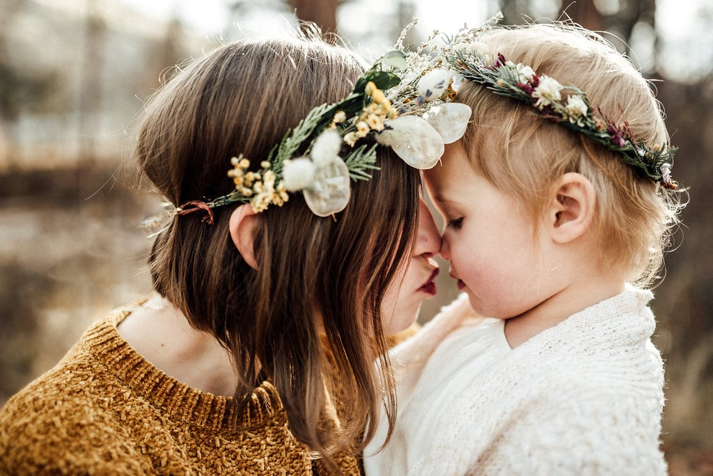 mother and child flower crowns
