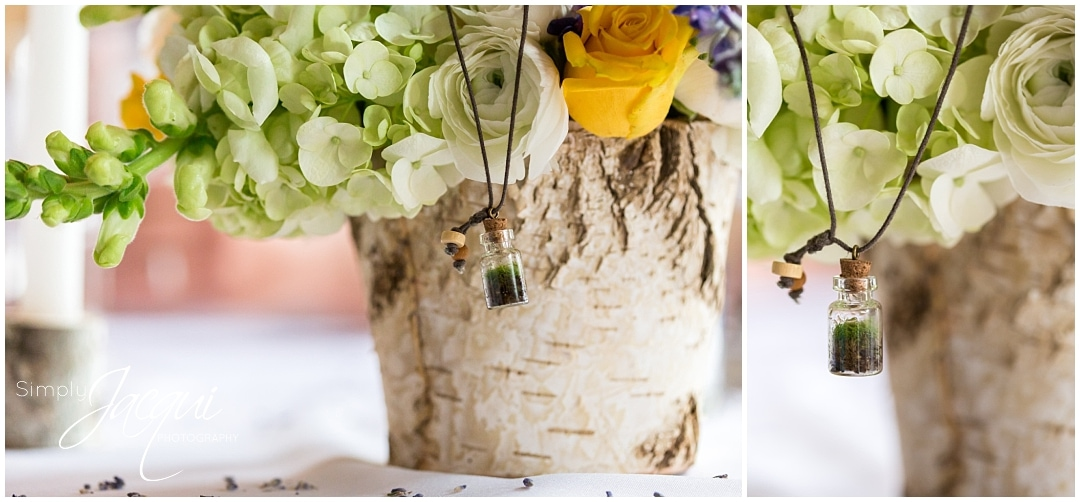 Simply Jaci Photography, Missoula Montana Spring Weddings, Terrarium necklaces
