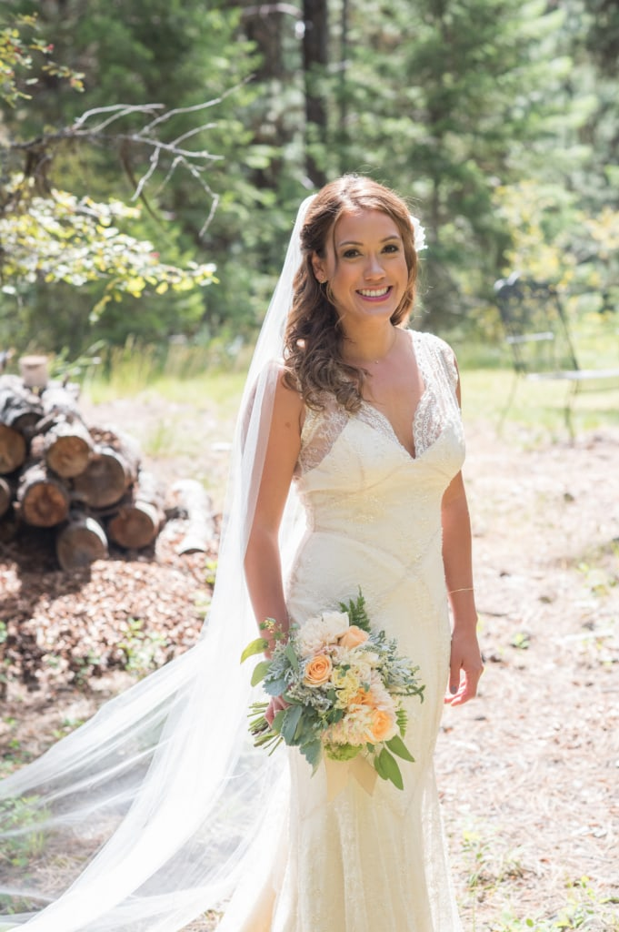Camp Jonawana Missoula, MT Wedding Flowers. Montana Eucalyptus, Tarkio RIver Lodge