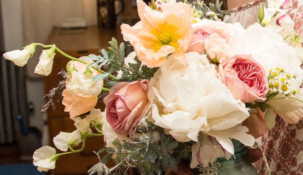 Montana bridal bouquet, peonies, spring montana wedding, montana wedding flowers, floral design