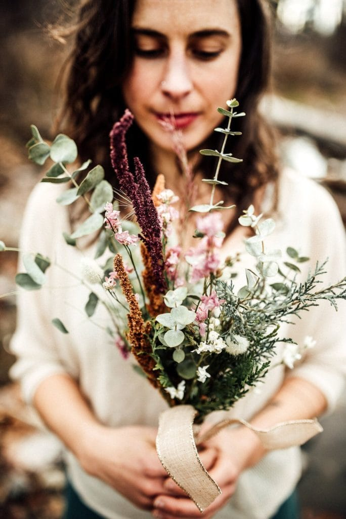 dried flower bouquet made in Montana
