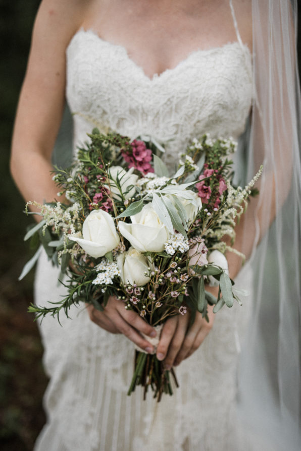 wildflower bouquet for a summer wedding in glacier national park