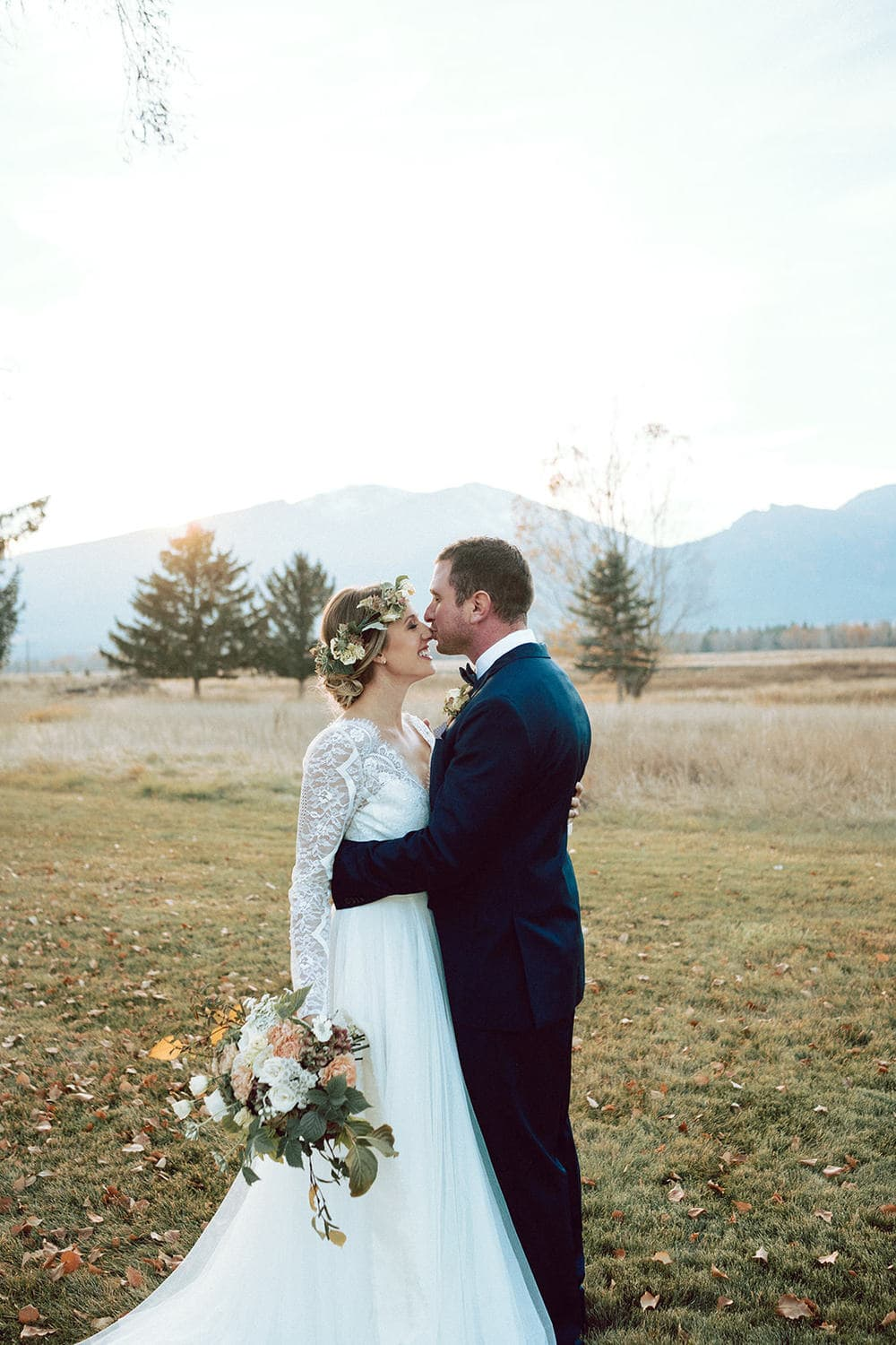 Fall Wedding Flowers in Grassland in Montana