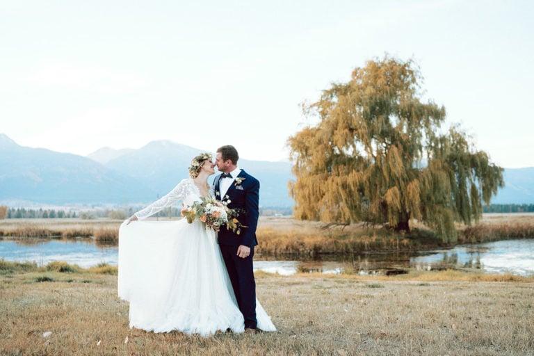 Fall Wedding Flowers in Grassland in Montana