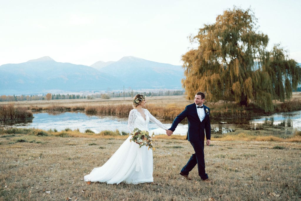 Missoula Wedding Florist Fall Wedding Flowers in Grassland in Montana