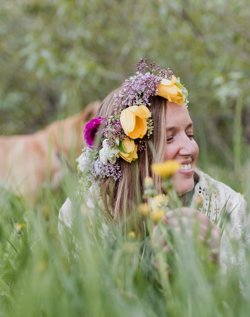Melissa Lafontaine owner of Earth Within Flowers in Missoula, MT