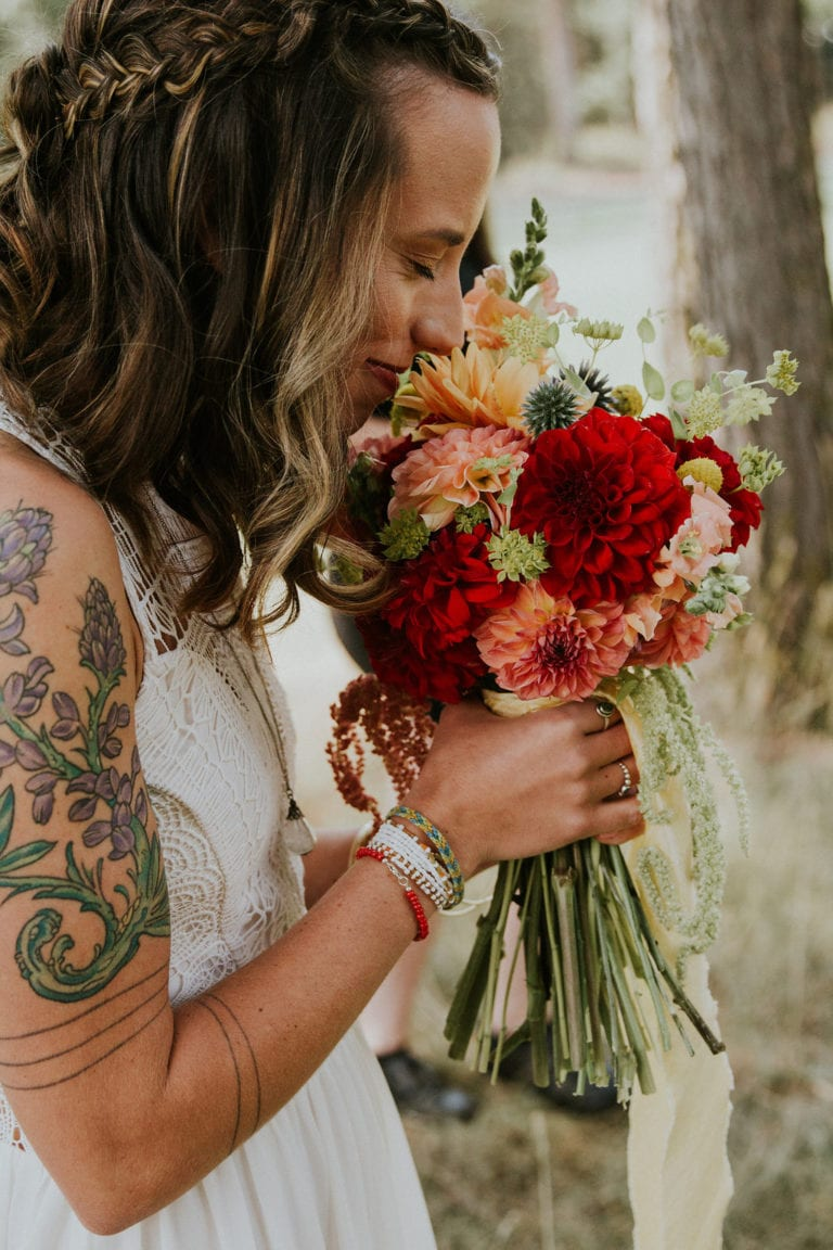 montana destination wedding flowers