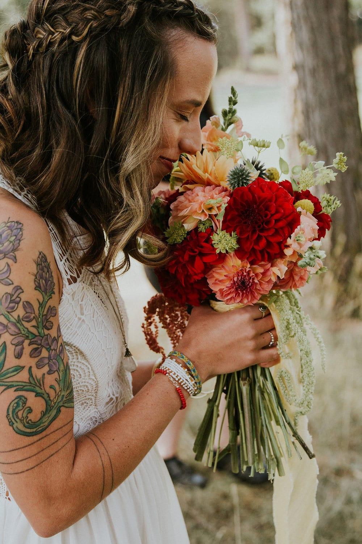 montana destination wedding flowers