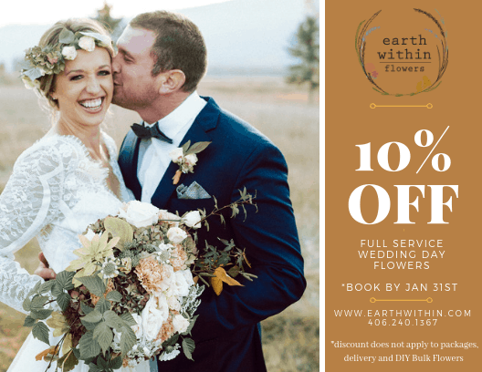 montana wedding flower January promotion