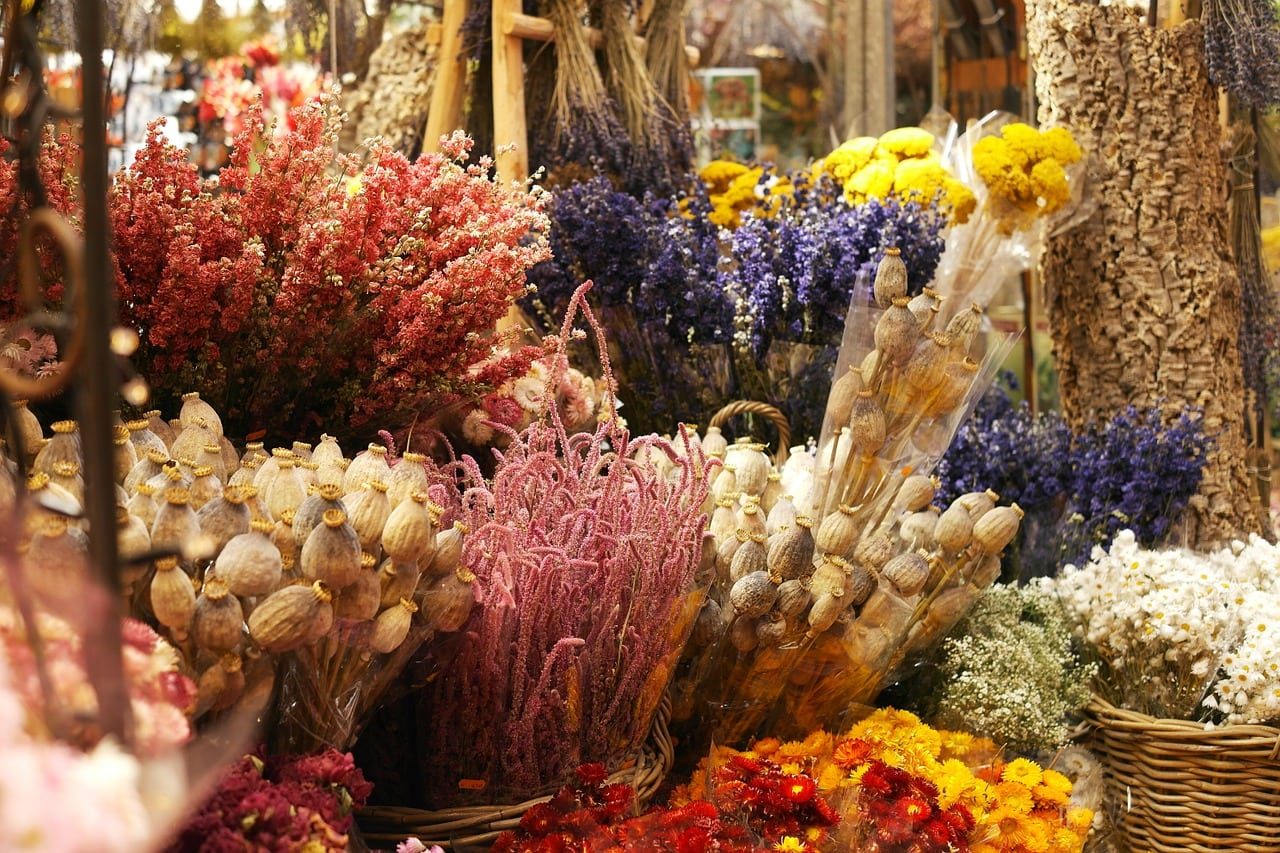 Dried flowers in Montana for valentine bouquets
