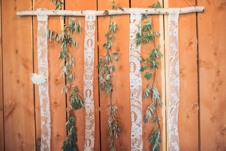 Hanging Greenery Wall Wedding Decor