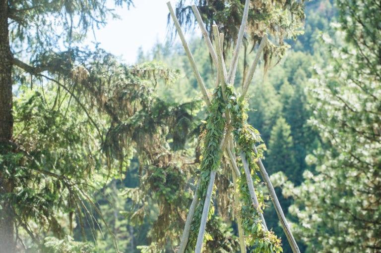 Wedding Arbor with Garland