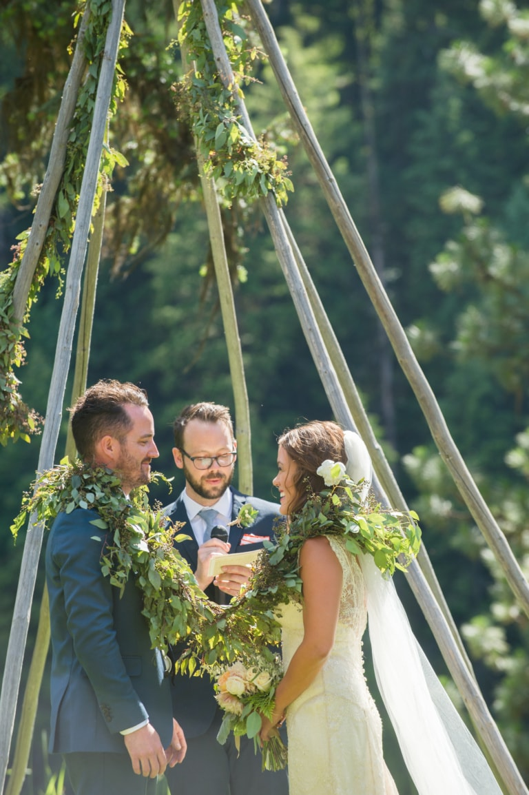 Wedding Arbor using Greenery in Missoula, MT