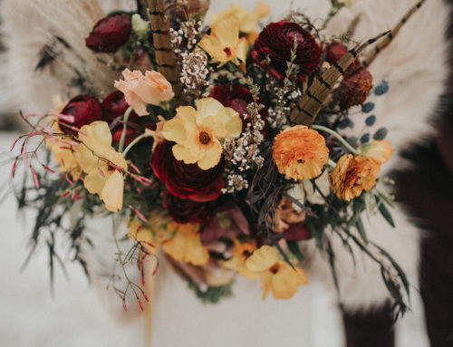 Vibrant Ruby and Gold Wedding