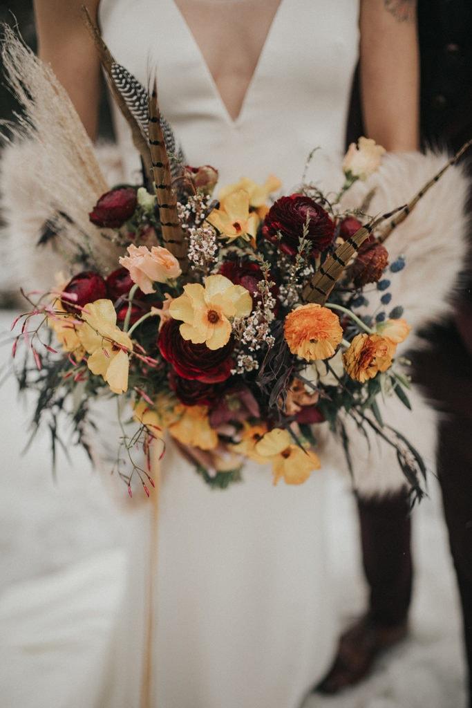 bouquet designed by Missoula wedding florist
