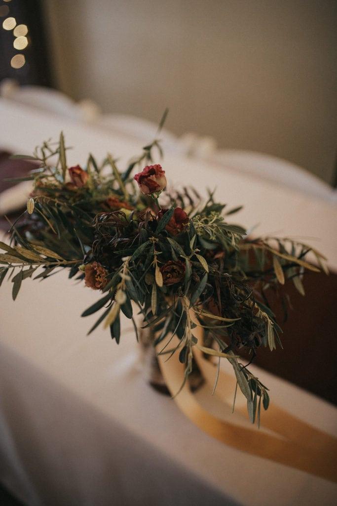 Floral reception decor by Missoula wedding florist