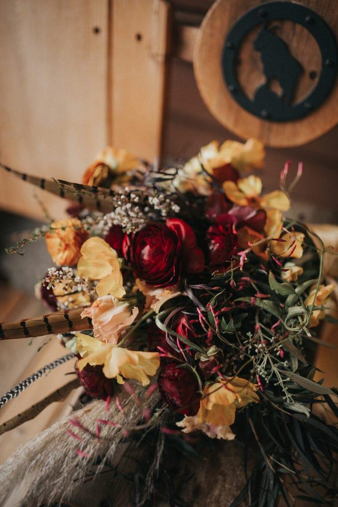 Bouquet designed by Montana wedding florist