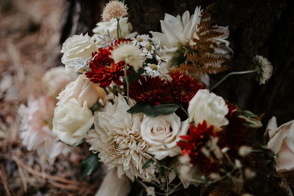 floral consultation detailed shot of bridal bouquet
