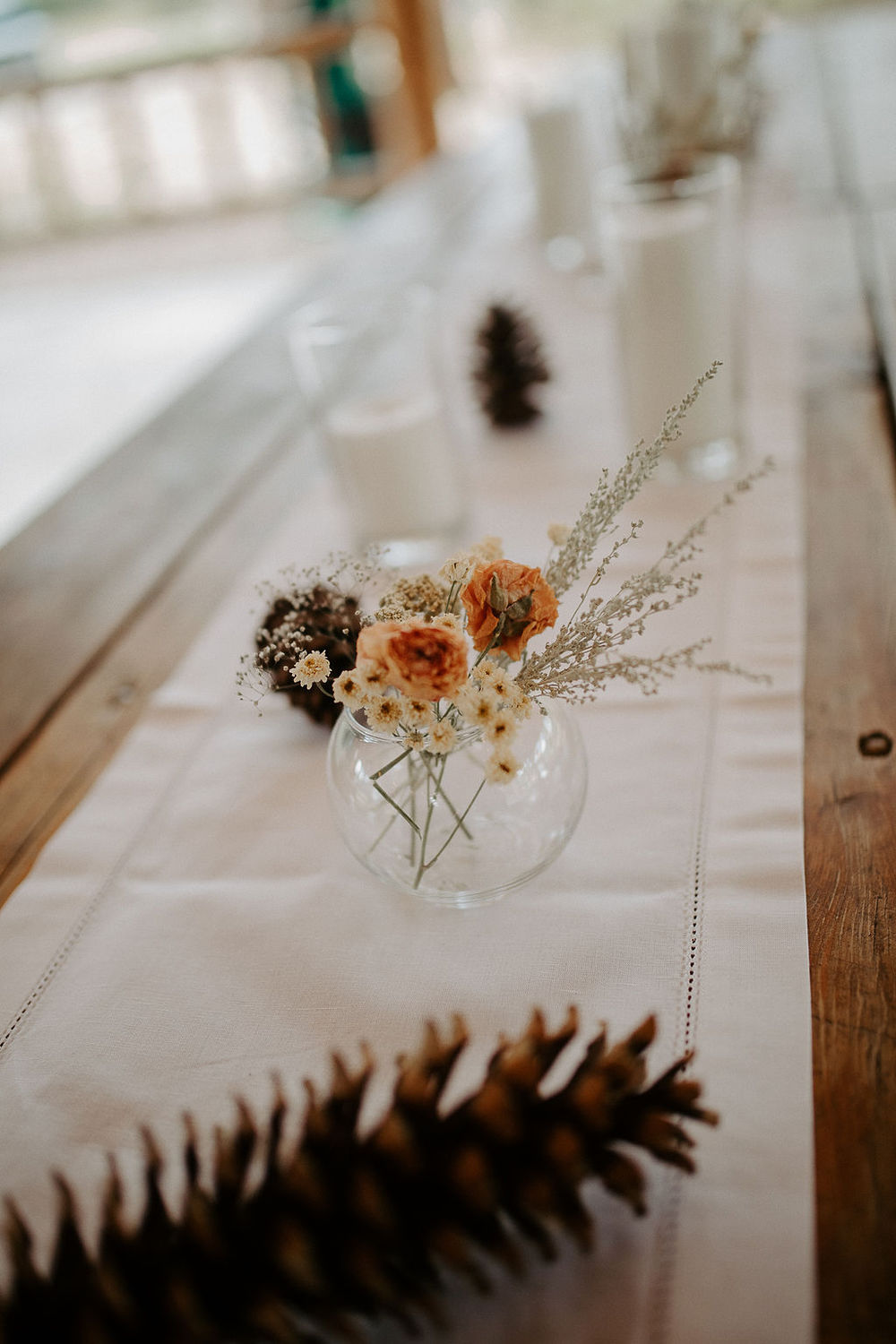 small floral table setting