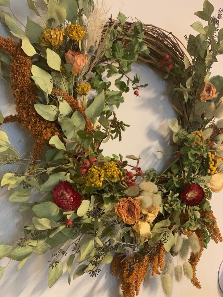 diy abundant harvest wreath