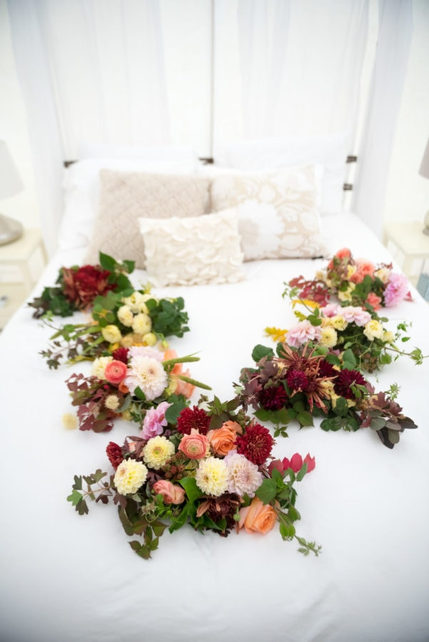 Fall wedding party bouquets