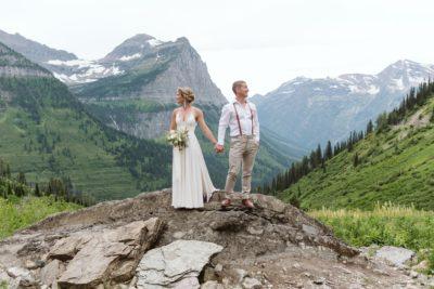 Bride and Groom in Glacier National Park