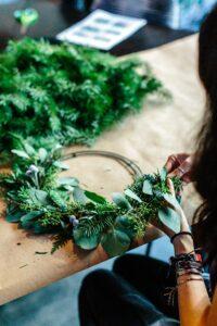 moon cycle herbs wreath