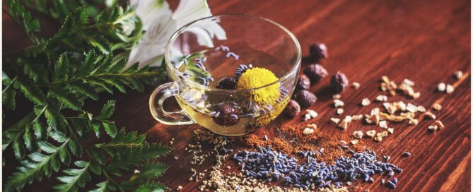 menstrual phase herb tea blend